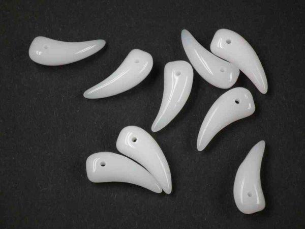 15 Klaue Perlen 16mm weiß alabaster
