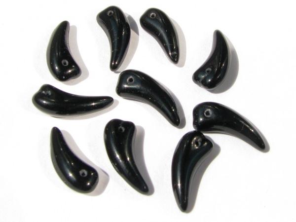 15 Klaue Perlen 16mm schwarz