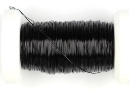 Kupferdraht lackiert 0,3mm, 50m metallic schwarz