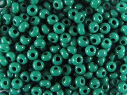 Rocailles 2,6mm 9/0 satt dunkelgrün