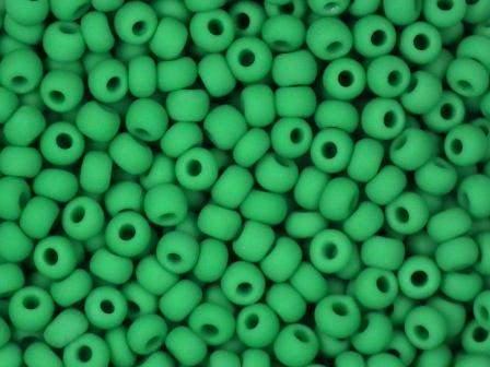 Rocailles 2,6mm 9/0 satt matt dunkelgrün