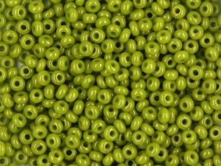 Rocailles 2,6mm 9/0 satt oliv-grün