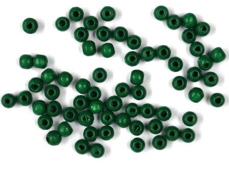 Holzperlen dunkelgrün 4mm